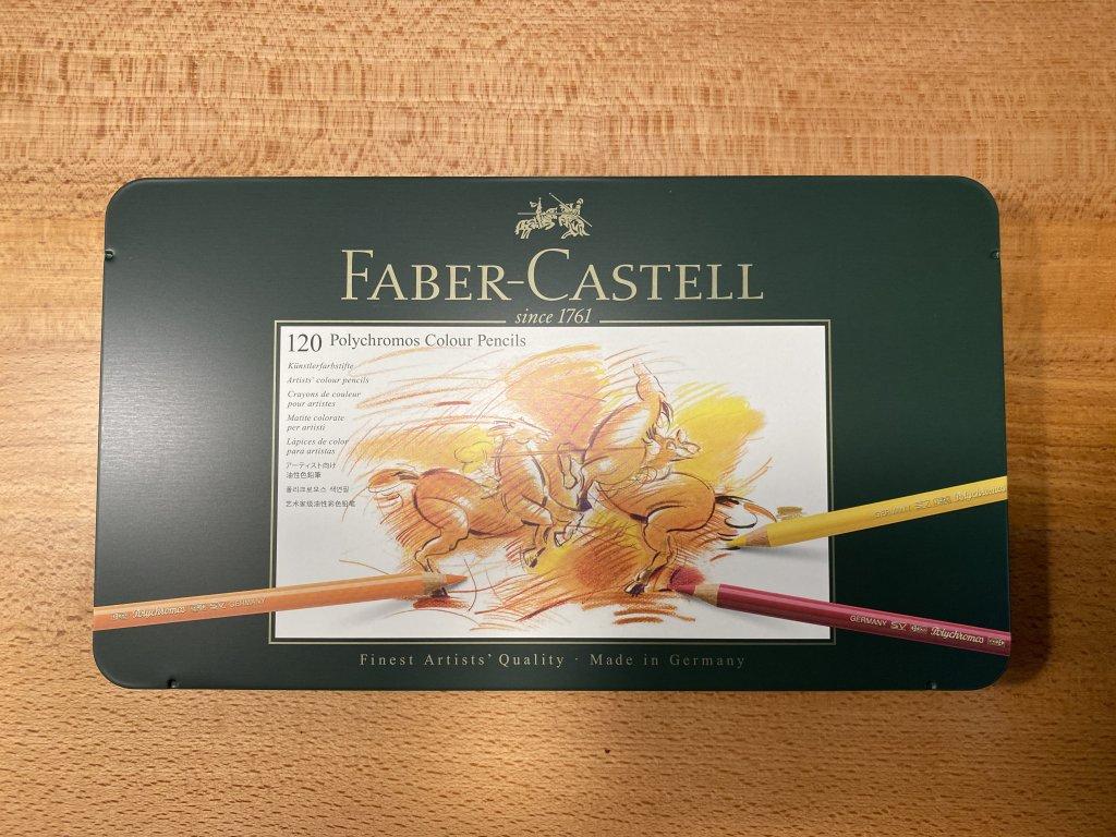 Faber ファーバーカステル ポリクロモス色鉛筆セット 120色 缶入