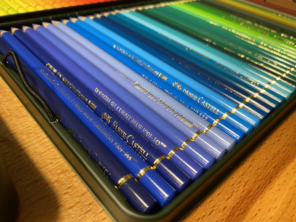 Faber ファーバーカステル ポリクロモス色鉛筆セット 120色 缶入 2段目1