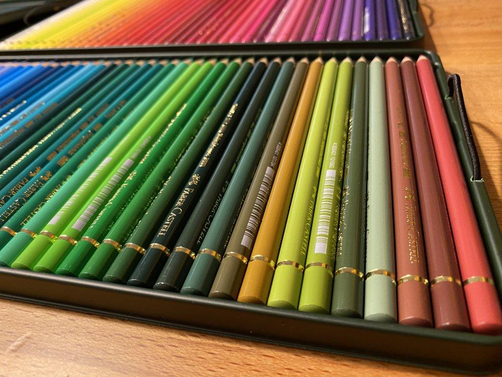 Faber ファーバーカステル ポリクロモス色鉛筆セット 120色 缶入 2段目2