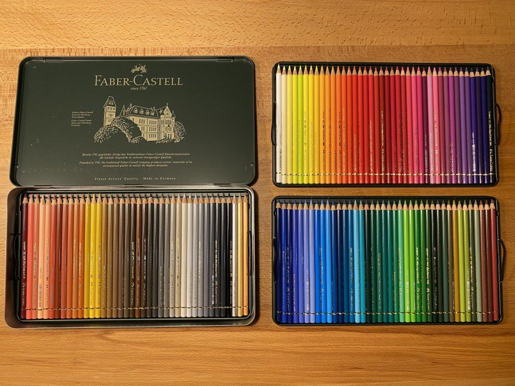 Faber ファーバーカステル ポリクロモス色鉛筆セット 120色 缶入 3段
