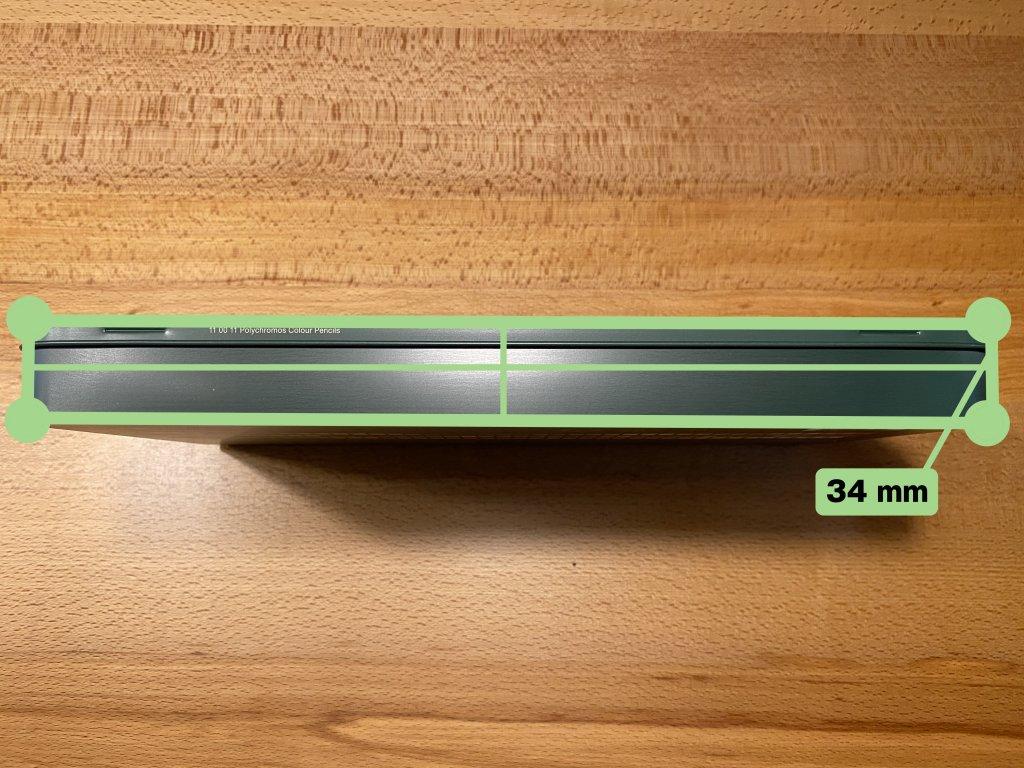 Faber ファーバーカステル ポリクロモス色鉛筆セット 120色 缶入 厚さ