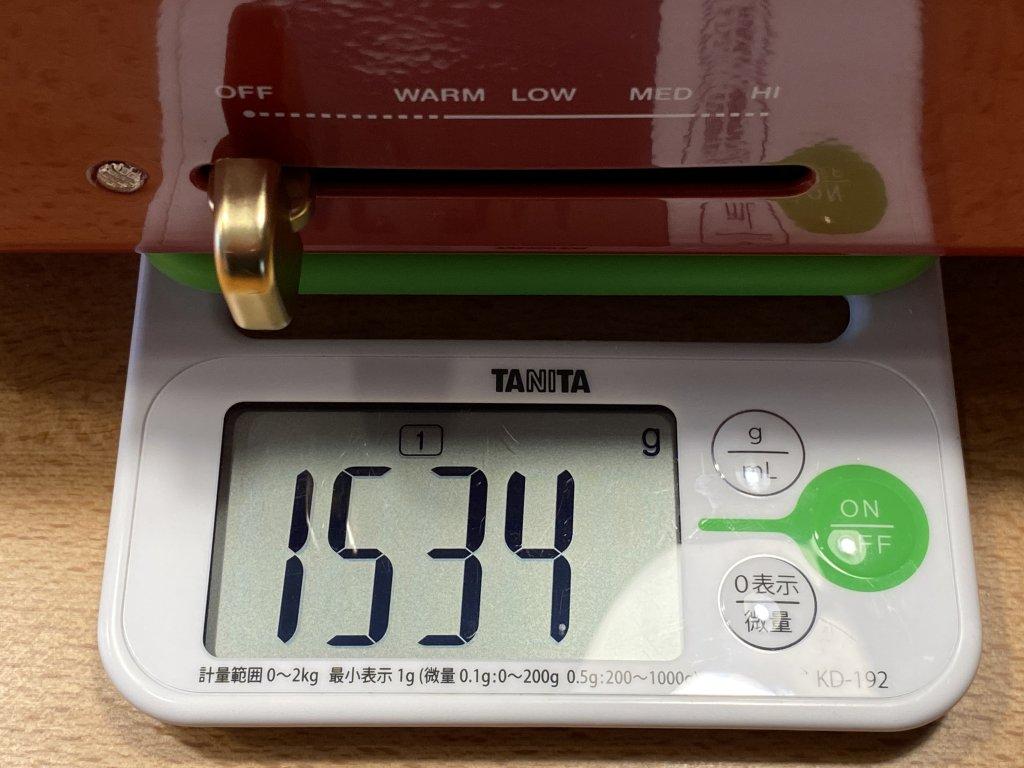 BRUNO ブルーノ コンパクトホットプレート 本体の重さ
