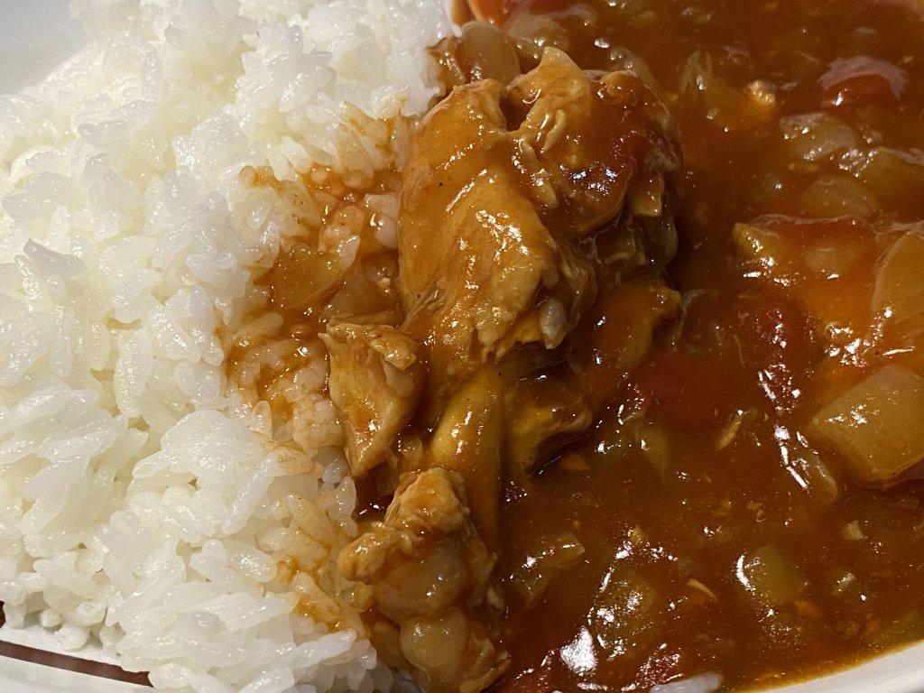 チキンと野菜のカレー(無水カレー)【ヘルシオ ホットクック KN-HW16E】 お皿アップ
