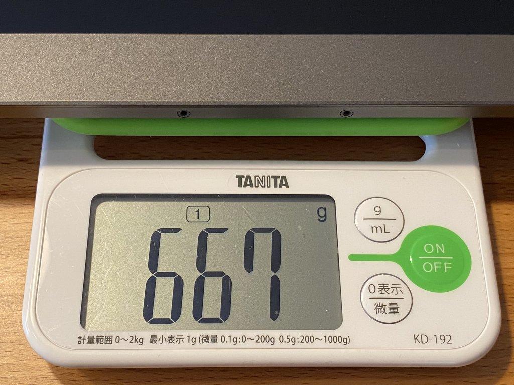GeChic モバイルモニター On-Lap 1306H モニター重さ
