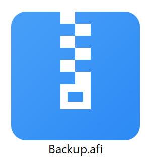 AOMEI Backupper .afiファイル