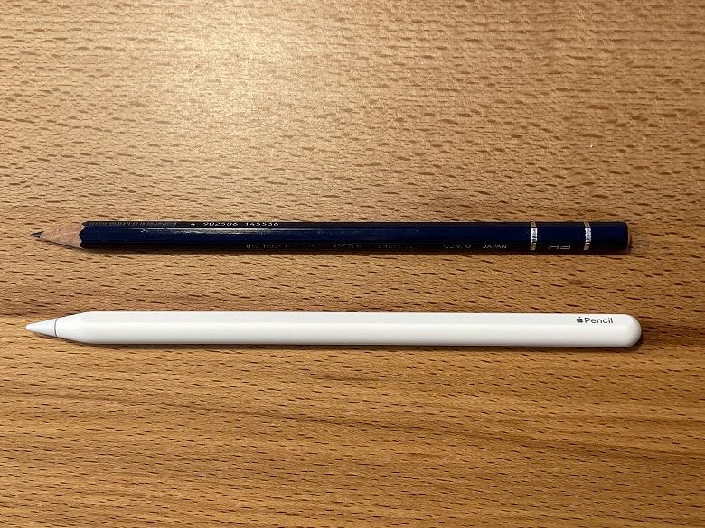 Apple Pencil 第2世代 鉛筆と比較