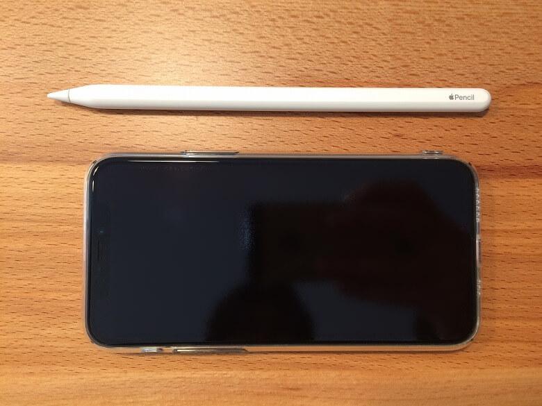 Apple Pencil 第2世代 スマホと比較