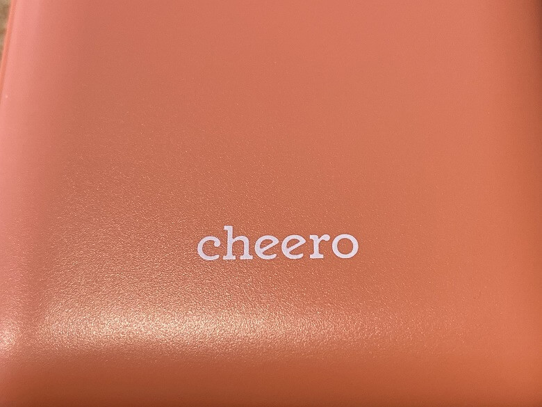 cheero Flat 10000mAh with Power Delivery 18W ロゴ