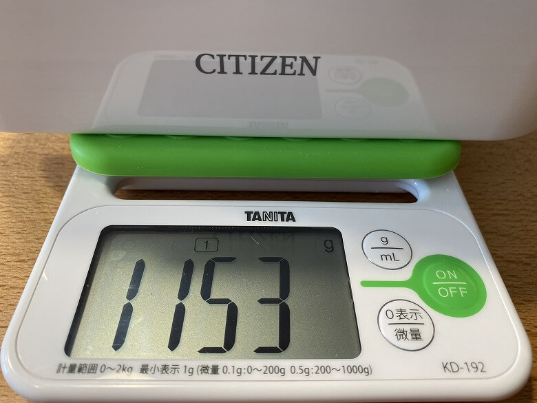 CITIZEN 超音波洗浄器 SWT710 本体のみ重さ