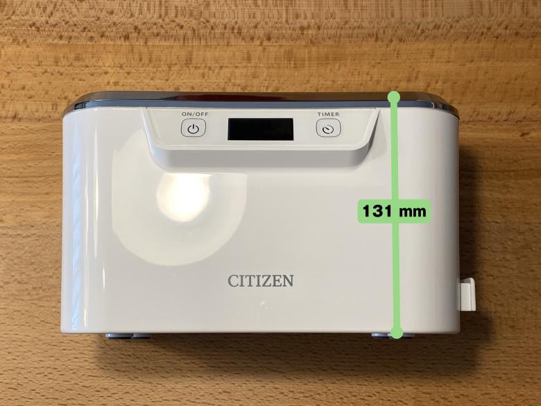 CITIZEN 超音波洗浄器 SWT710 高さ