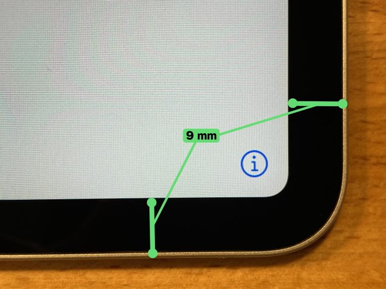 Apple iPad Pro 12.9インチ 2020年モデル ベゼル