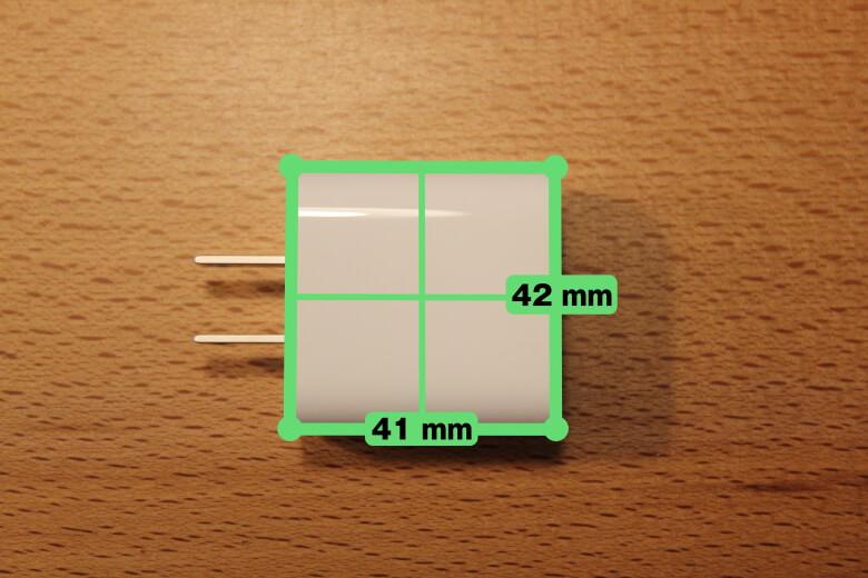 Apple iPad Pro 12.9インチ 2020年モデル ACアダプターサイズ