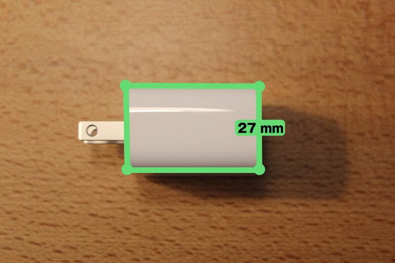 Apple iPad Pro 12.9インチ 2020年モデル ACアダプター厚さ