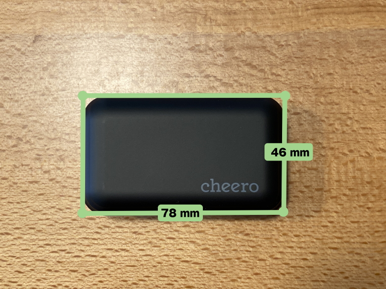 cheero Wireless Earphones Bluetooth 5.1 充電ケースサイズ