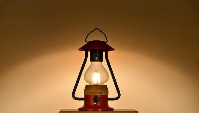 Bluetoothスピーカー付き山小屋風LEDランタン 明るさ、色温度