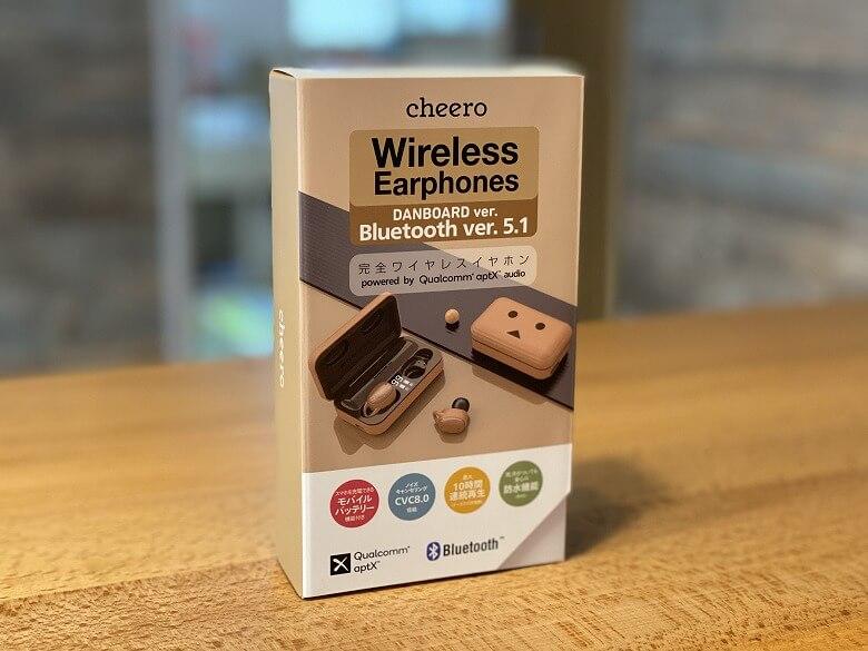 cheero DANBOARD Wireless Earphones Bluetooth 5.1 外箱