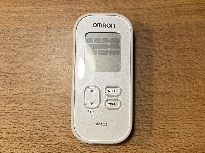 オムロン 低周波治療器 HV-F022 サイズ感