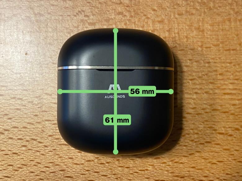 AU-Stream ANC 充電ケースサイズ