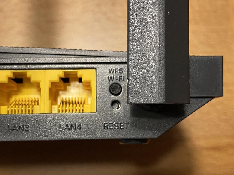 Archer C80 Wi-FiボタンとRESET