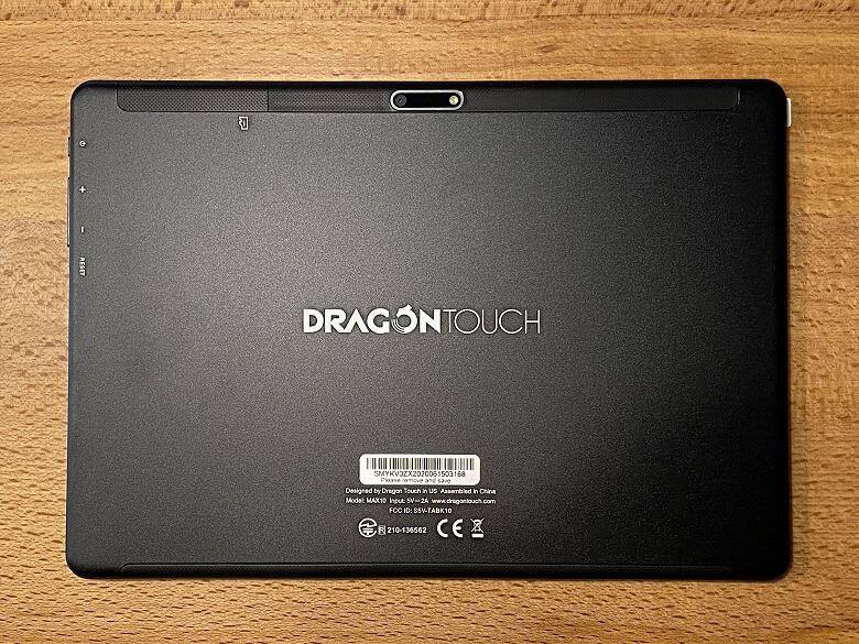 Dragon Touch MAX10 裏面