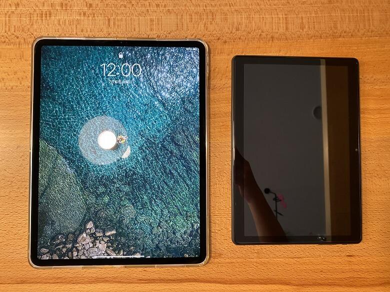 Dragon Touch MAX10 iPad Proと比較