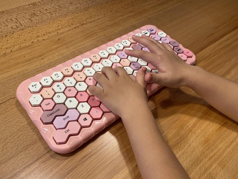 ハニーカラフルキーボード 鮮やかな色