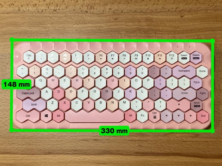 ハニーカラフルキーボード サイズ