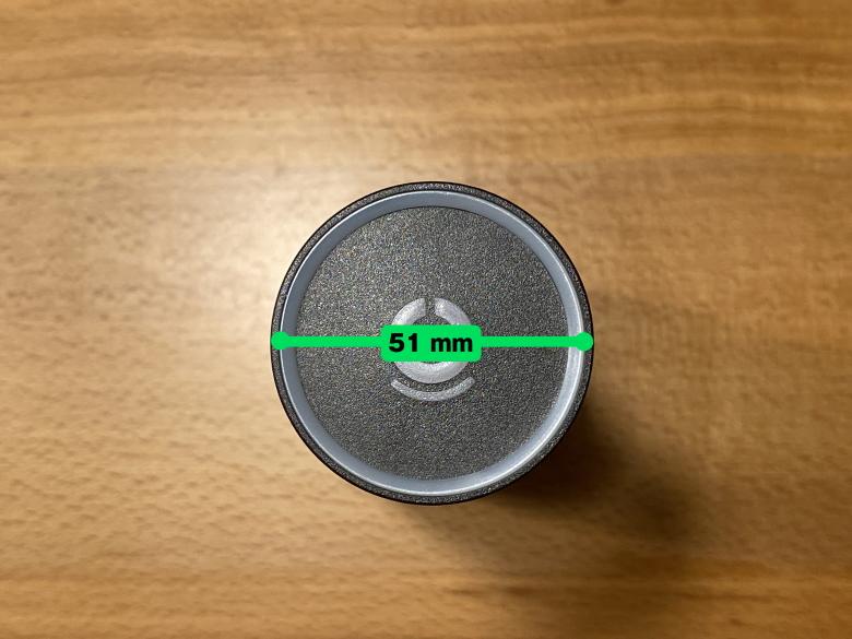 LIZ Smart Bottle スマートキャップの直径