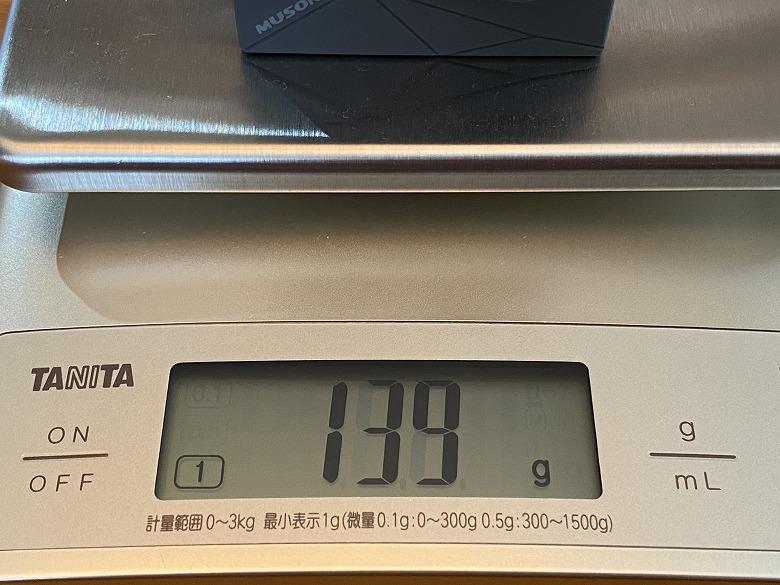MUSON MAX1 アクションカメラ 防水ケース含む重さ