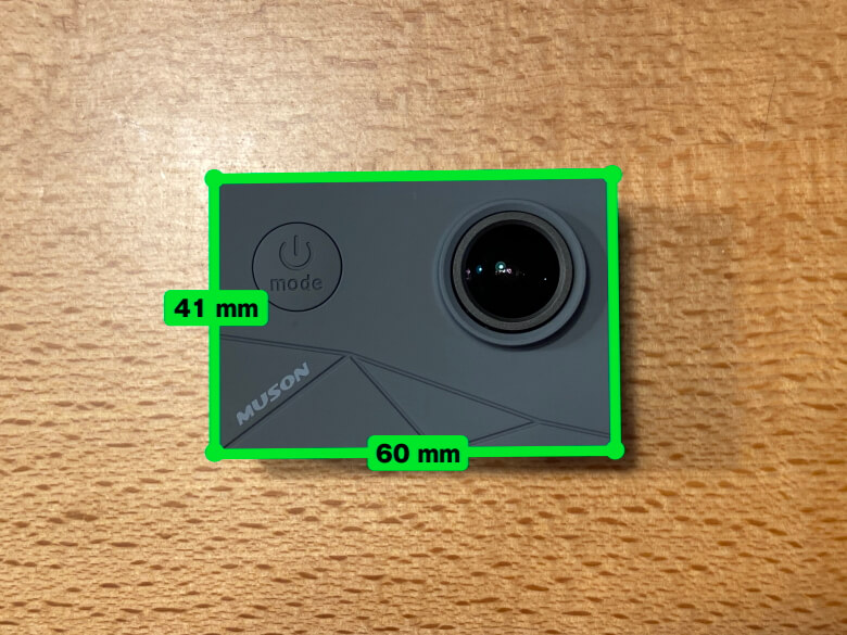 MUSON MAX1 アクションカメラ サイズ