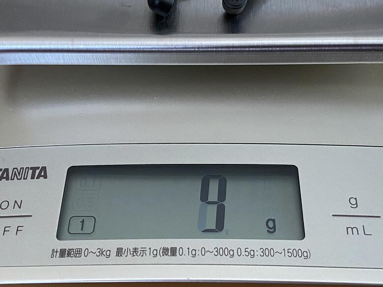 TaoTronics SoundLiberty 88 イヤホン重さ