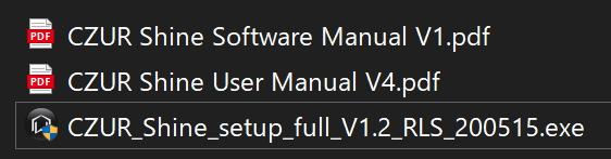 CZUR Shine ファイルを実行