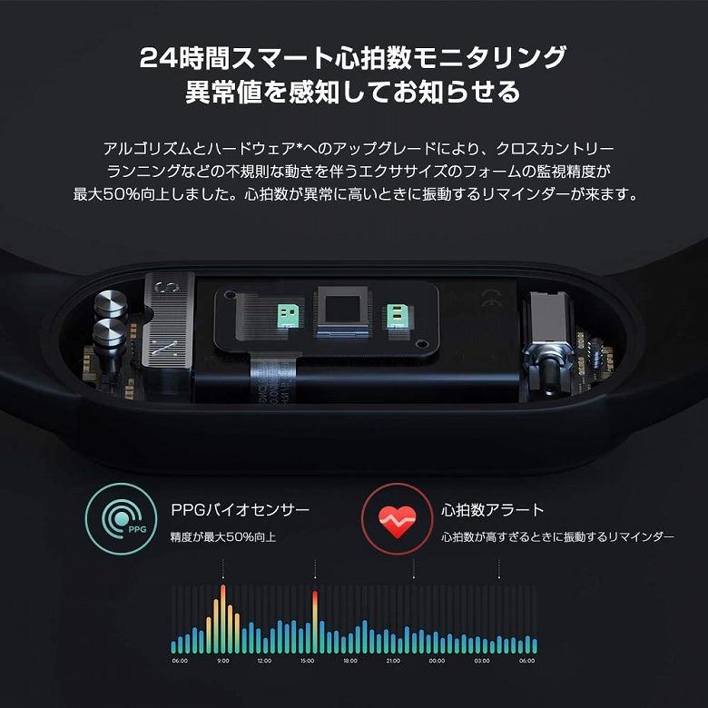 Xiaomi Mi Band 5 心拍数をモニタリング