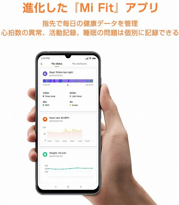 Xiaomi Mi Band 5 Mi Fitアプリ