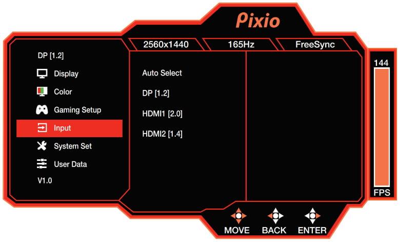 PX277 Prime Input