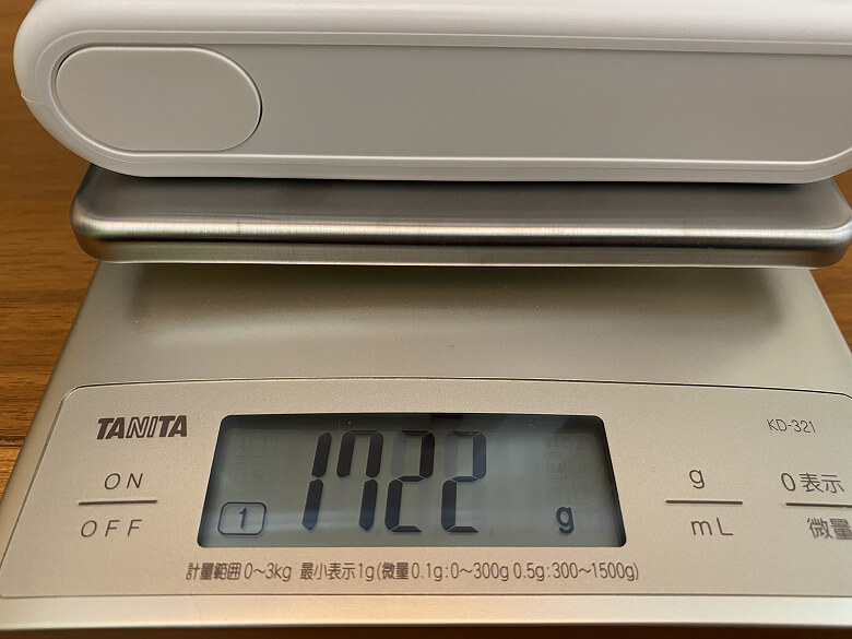 Shunzao Z11 Pro 本体の重さ
