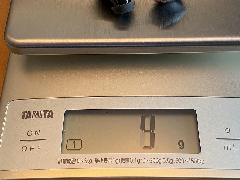COUMI Ear Soul TWS-817A イヤホン重さ