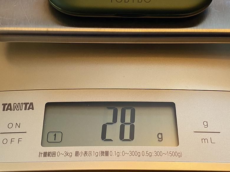 YOBYBO CARD20 充電ケースの重さ