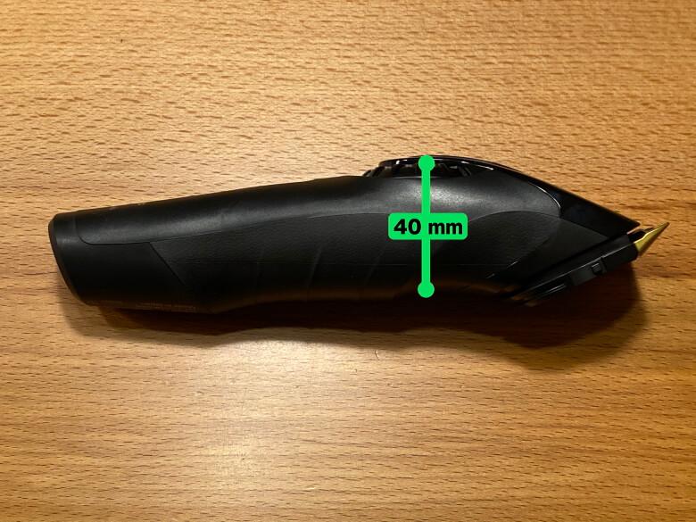 パナソニック プロリニアバリカン ER-GP82-K 厚さ