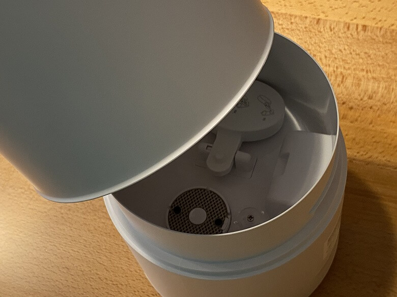 Milin 除菌加湿器 水タンク取り外し