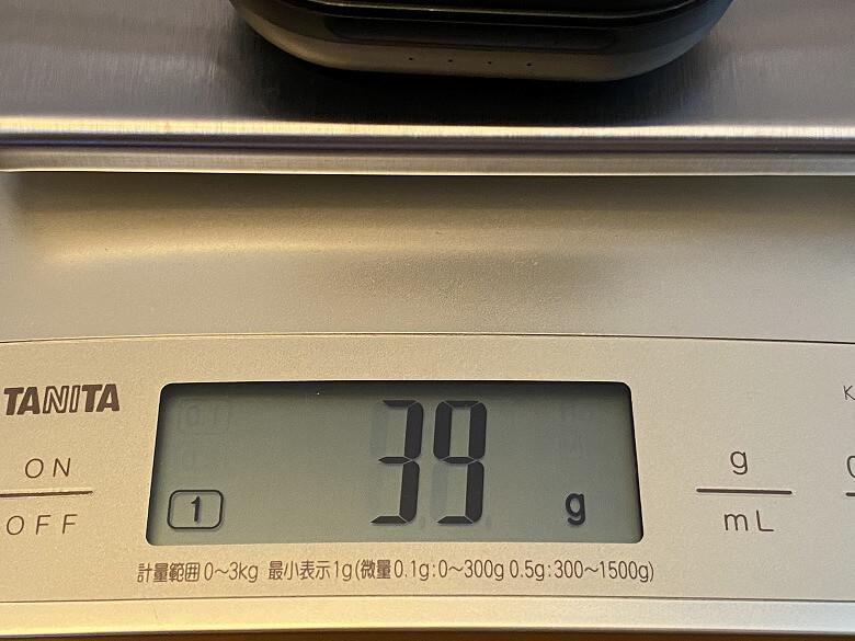 TaoTronics SoundLiberty 94 充電ケースの重さ