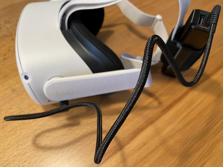 オキュラスクエスト用バッテリーキット バックヘッドスタイル 5000mAh Oculus Quest 2と接続