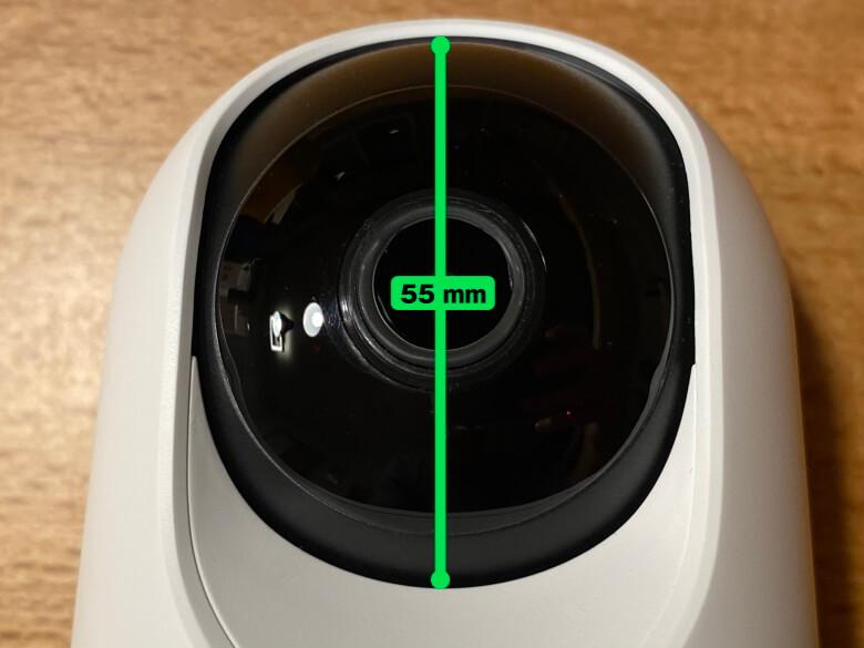 Eufy IndoorCam 2K Pan & Tilt カメラ部直径