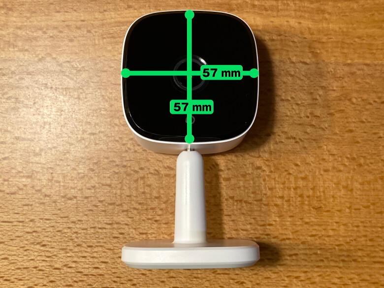 Eufy IndoorCam 2K カメラ部サイズ