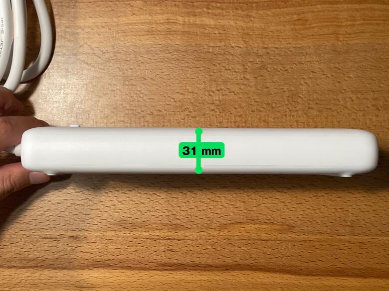Anker PowerPort Strip PD 6 厚さ
