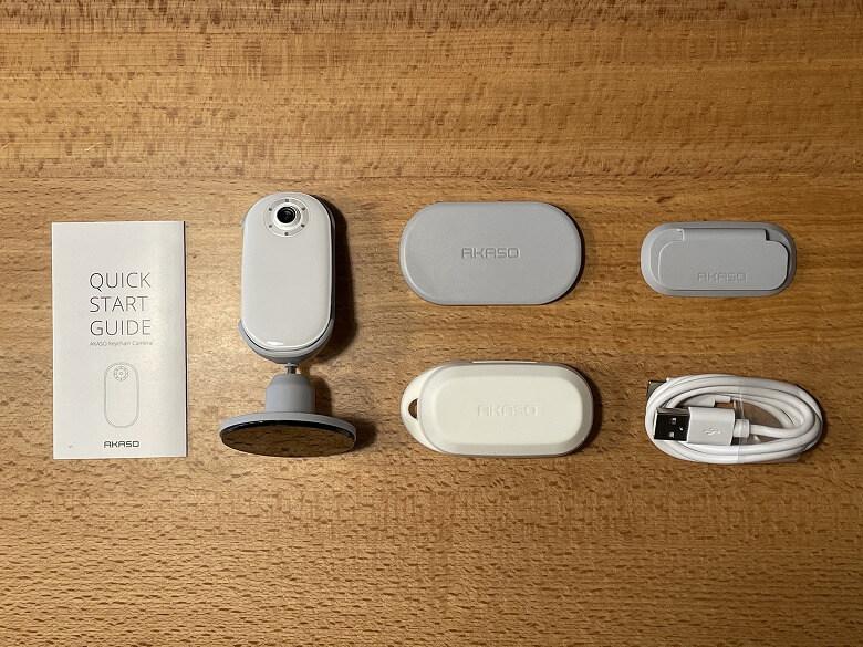 AKASO Keychain 同梱物