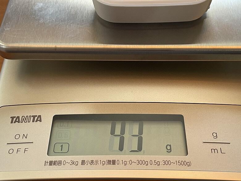 AKASO Keychain カメラの重さ