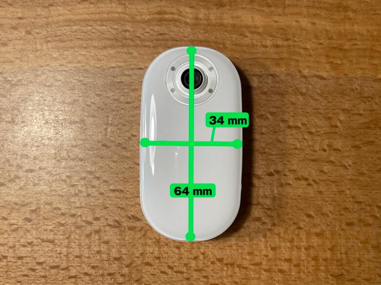 AKASO Keychain サイズ