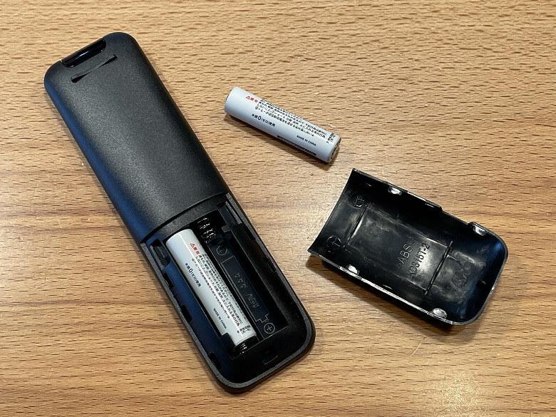 AKASO ミニビデオプロジェクター リモコン電池