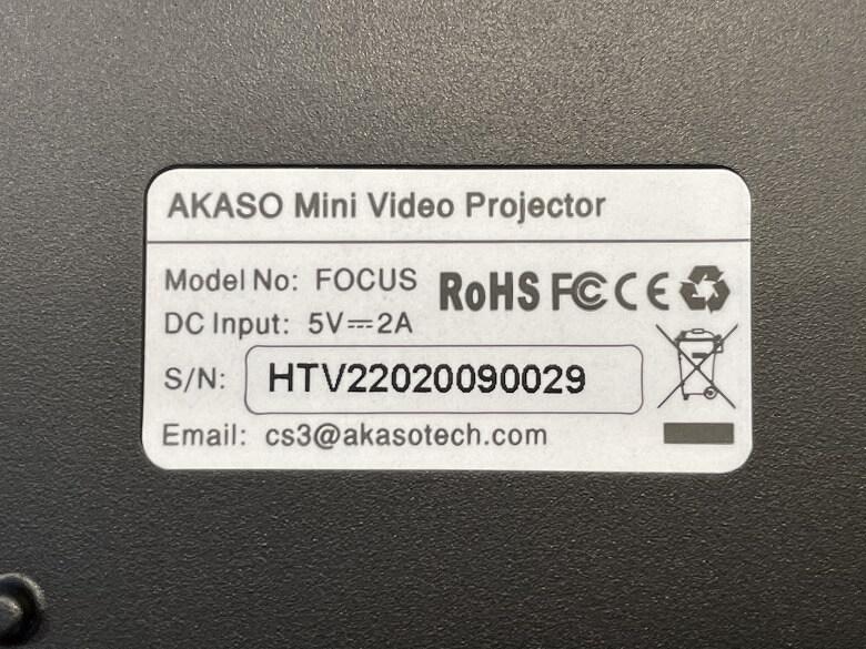 AKASO ミニビデオプロジェクター 製品の仕様